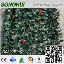 decorative plastic garden edging artificial vines leaves