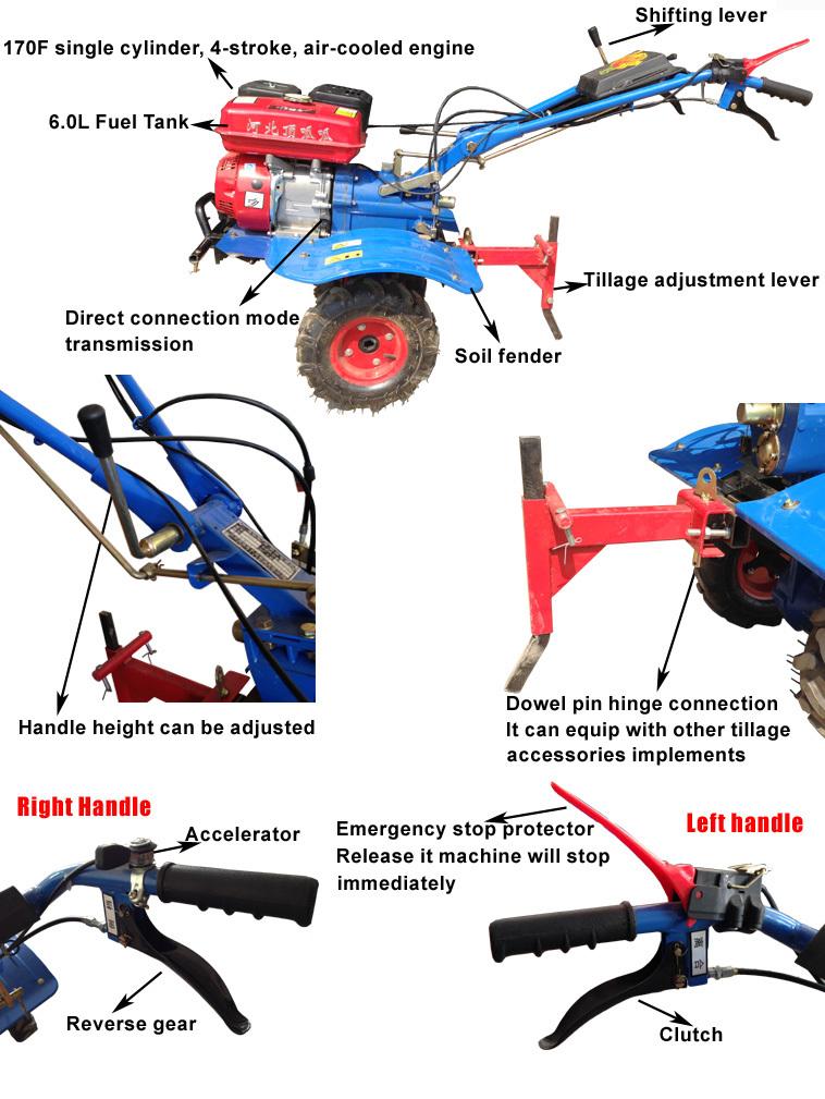 Agricultural Machinery Design : Agricultural atv rotavator weeder grass cultivator machine