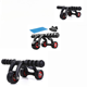 Home Gym Workout Abdominal Fitness Roller Arms Legs Muscle Strength Trainer Workout 3 Wheel Rollers
