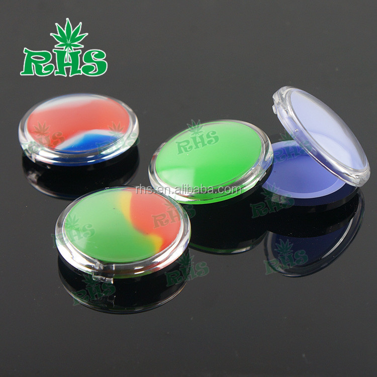 Clear color plastic Silicone Container Jars Dab For Concentrate Wax transparent plastic jars 6ml dab wax bho plastic containers