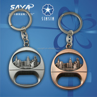 2014 newest Metal souvenir keyring bottle opener