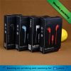 Foldable Black Printing Smartphone Earphone Paperboard
