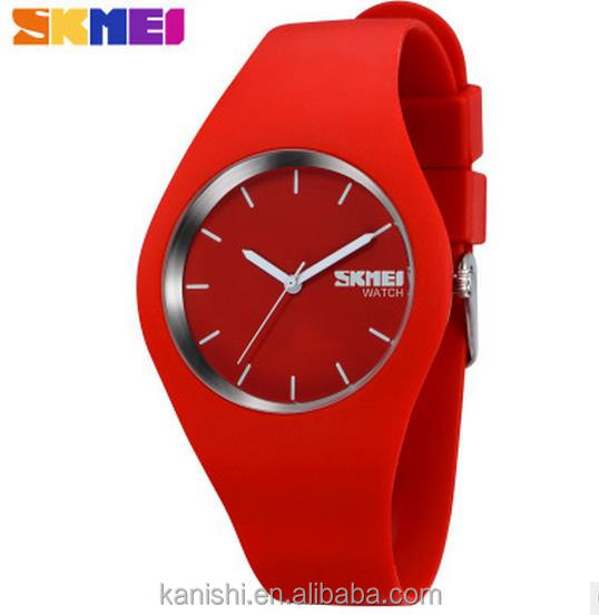 New Arrival SKMEI Brand Women Colorful Jelly Watch Men Silicone quartz Sports ladies wrist watches