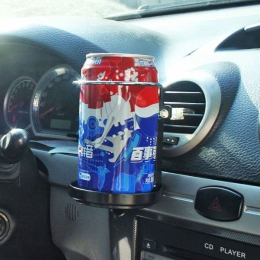 Car Truck Wind Air A/C Outlet Folding Cup Bracket Bottle Drink Holders For Auto
