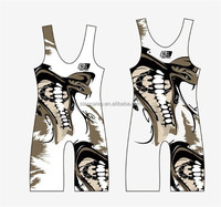 Sublimated Custom Design Wrestling Sports Singlets Wrestling Lycra Apparel /High Quality Wrestling Suits