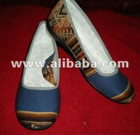 PERUVIAN SHOES WITH FABRIC INCA 100% HANDMADE