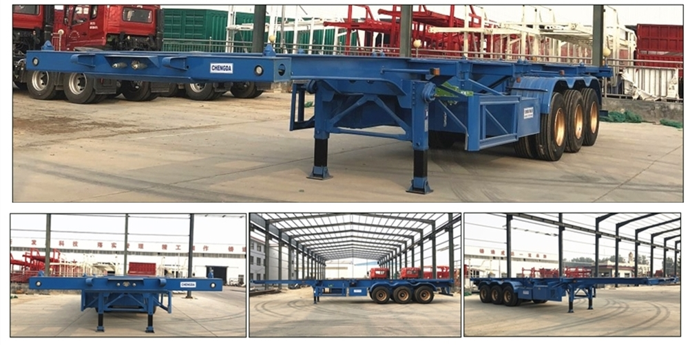40ft 20ft 45ft container skeleton semi trailer