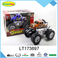 Super power toy truck big wheel friction pickup truck
