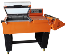 FM5540A 2 in 1 L type sealer shrink packing machine with conveysor