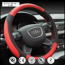 New promotional general genuine LEATHER Microfiber fabric fur steering wheel cover with new reflective unique design