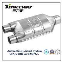 Auto Exhaust System high performance aftermarket catalytic converter and MUFFLER with certificate