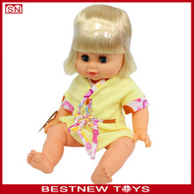 2015 New Doll Toy 14 Inch Wholesale Baby Girl Pee Doll Toy For Child