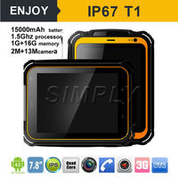 Simply T1 IP67 7.85 inch cheap rugged tablet pc with 4G LTE Andriod 5.1 15000mAh 2+13MP 2+16GB 1024*768