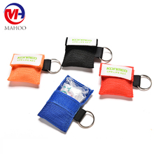 CPR Rescue Mask CPR Mask KeyChain Kit Emergency Face Shields with One-way Valve Breathing Barrier for First Aid Rescue