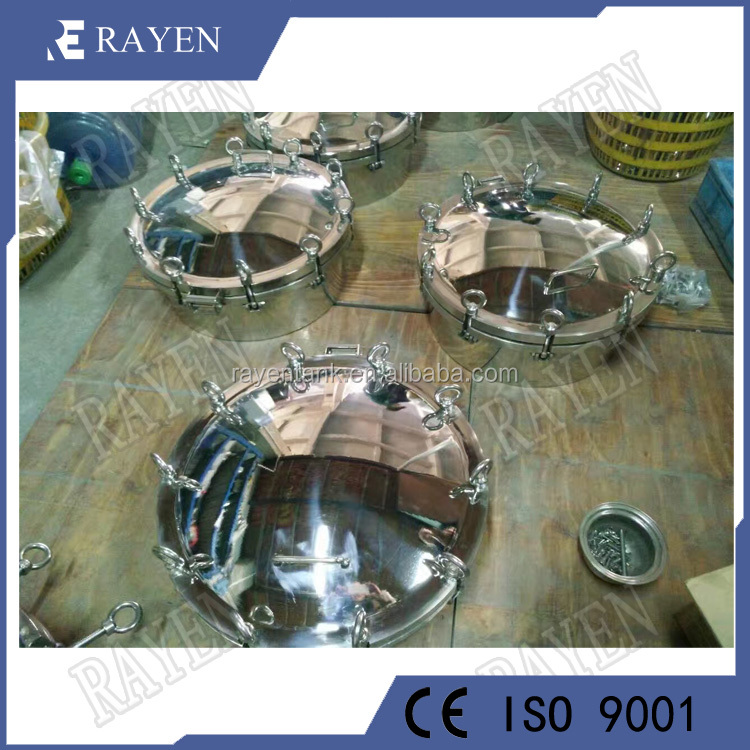 Food grade sanitary tank manway cover pressure vessel manhole covers