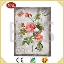 Cheapest Home Decoration Canvas Big Rose Single Lotus Flower Painting