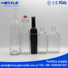 CE Cheap Custom Glass Wine Bottle Supplier, Wholesale Empty Glass Liquor Bottle Company