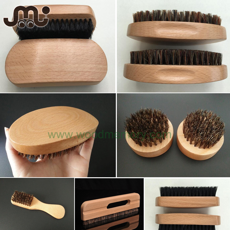 Custom special handy round wooden wire brush