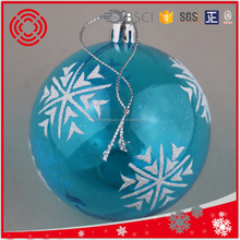 Christmas transparent painted ball , new products for Xmas tree ornament