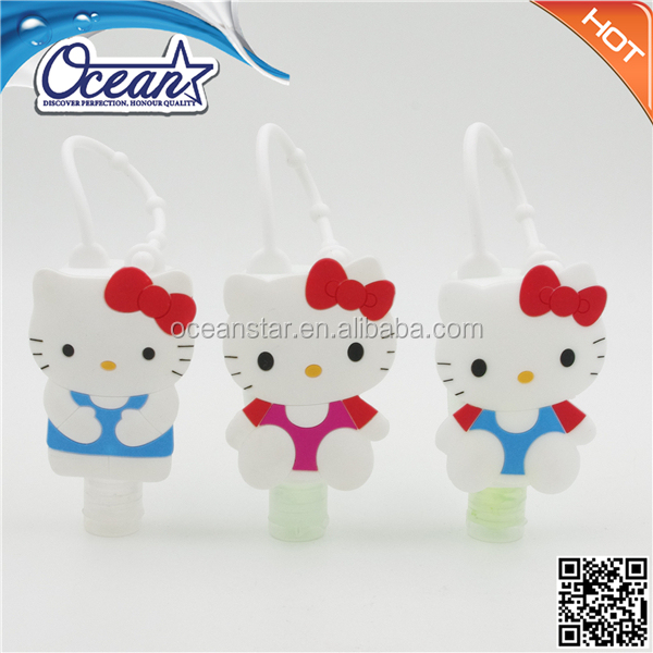 15ml rubber waterless hand sanitizer, hello kitty holder