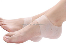 New arriver feet care socks 2PCS New Silicone Moisturizing Gel Heel Socks with hole Cracked Foot Skin Care Protectors
