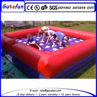 Inflatable interactive adult game giant inflatable twister with good quality