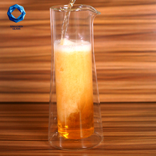 cool beer use big size double wall glass beer pitcher