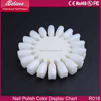 Manufacture Supply high quality acrylic nail art decoration color display chart