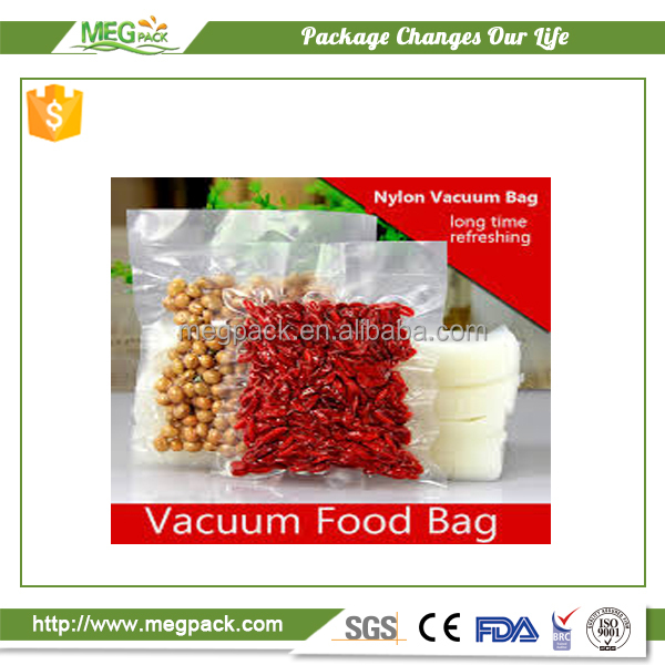 Transparent PA/PE plastic vacuum bags/Food vacuum packing pouch for meat and sea food