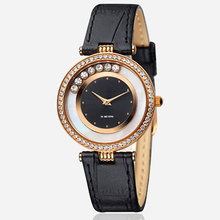 IPRG plating transparent leather ladies watches with changeable strap