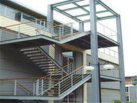 stainless steel stair case