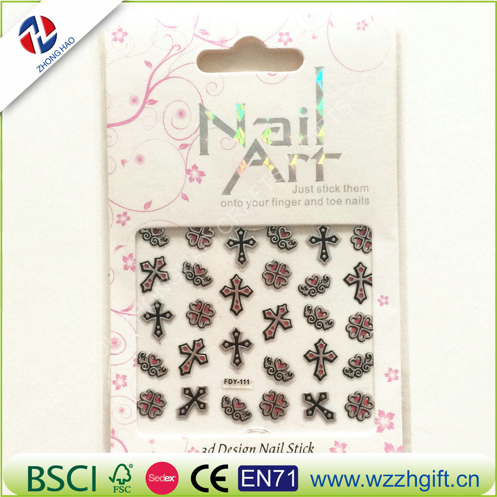 OEM factory price brand custom water transfer nail sticker