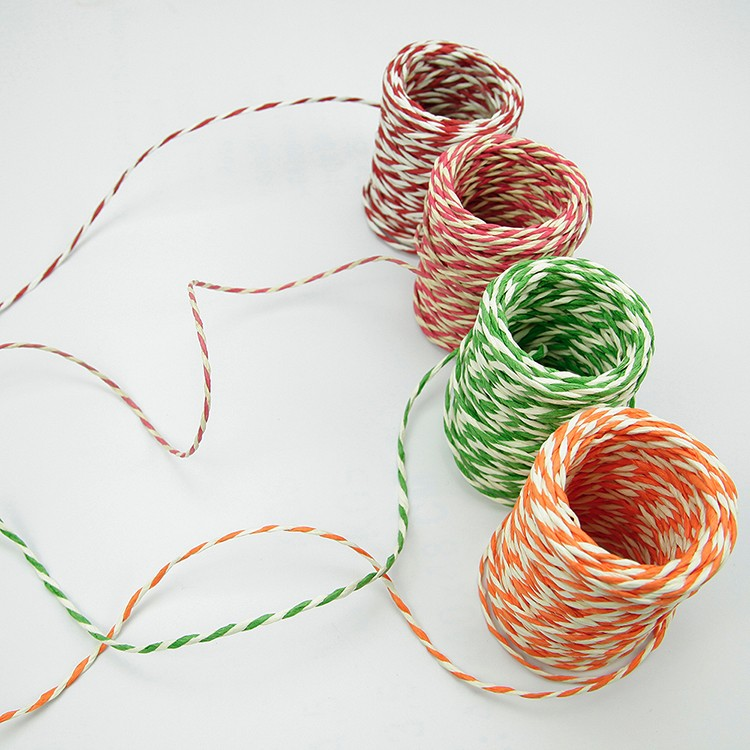 Craft Color Twisted Paper Twine Rope Braided Cord String Ribbon
