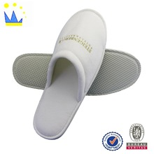 closed toe hotel guest slipper for women