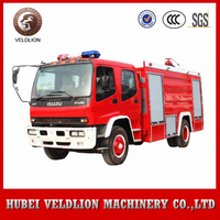 Japan double cabin isuzu fire truck, fire fighting truck for sale