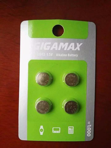 0% hg&pb LR43( AG12) alkaline button cell