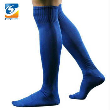 Wholesale Solid Blue Color Mens Knee High Soccer Sock