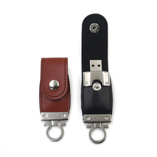 free sample Metal OEM/ODM Fastener Leather 4gb 8gb 128gb usb flash drive stick with personalized Logo