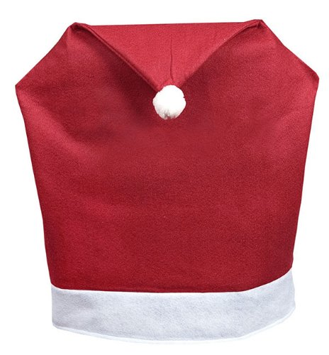 Christmas Decoration Soft Red and White Santa Hat Chair Slip cover