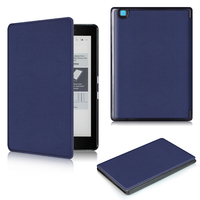 Smart ultra slim thin magnetic PU leather cover case for 2016 Kobo aura edition 2 ereader