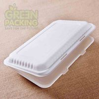 Bagasse disposable lunch box 100% biodegradable