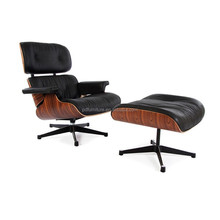 Modern design leather club chair replica charles emes lounge chair