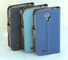 New Jeans PU Leather Case with Card Slot for Samsung Galaxy S4 i9500 Flip Case