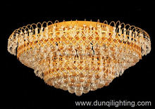 Modern small crystal drop ceiling lamp