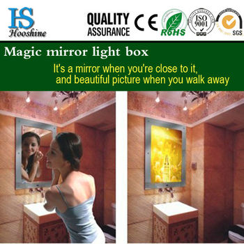 Customized hot sale Timer mirror light box magic light box/ for advertisement board