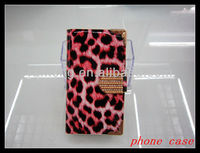 leopard walllet flip leather case cover for apple iphone 5 5g