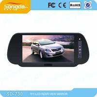 support wireless camera Radar DVR function 7 inch car bluetooth mirror