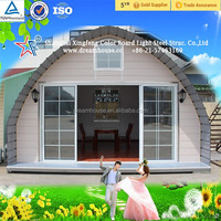 Long span steel structure dome house/prefab cabin kits/cheap tiny kit home
