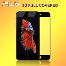 Smartphone Parts Anti Static 3D Curved Tempered Glass Screen Protector, Wholesale Alibaba Silicone Edge Full Cover For iPhone 7#