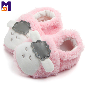 Custom kids animal shoes cute plush baby shoes